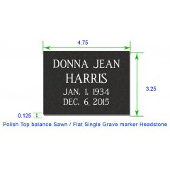 MF01 - Granite marker for cemetery or garden with Standard design template