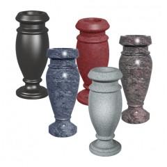 """AV01 4""""x4""""x10""""  Turned Granite Vase"""