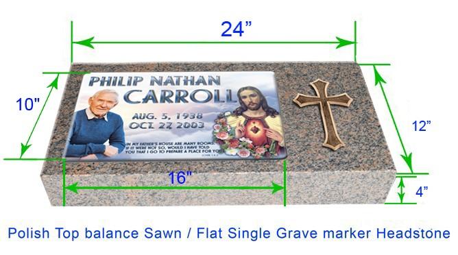 Mf01 Flat Single Eternal Life Grave Marker Headstone 24