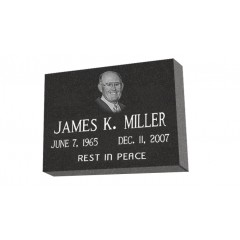 MF01 - Granite marker with custom picture for cemetery or garden